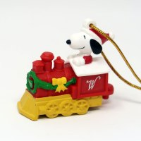Snoopy Train Engine Ornament
