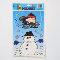 Rerun Sledding with Snowman Window Cling Sheet