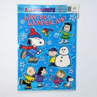 Peanuts Winter Wonderland Window Cling Sheet