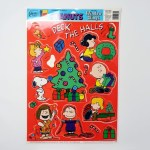 Peanuts Gang Deck the Halls Window Cling Sheet