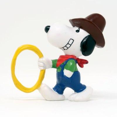 Cowboy Snoopy PVC Figurine - Brown Hat