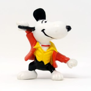 Flash Beagle Snoopy PVC Figurine