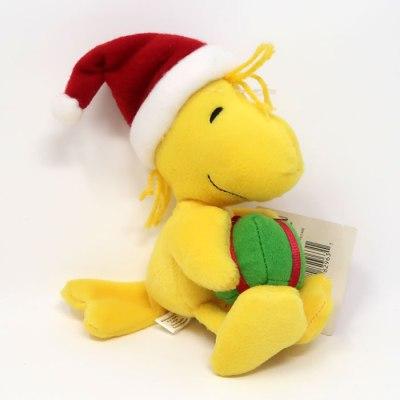 Woodstock Holding Christmas Gift Plush Toy