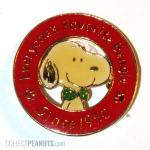 Snoopy wearing bowtie pin, Denz