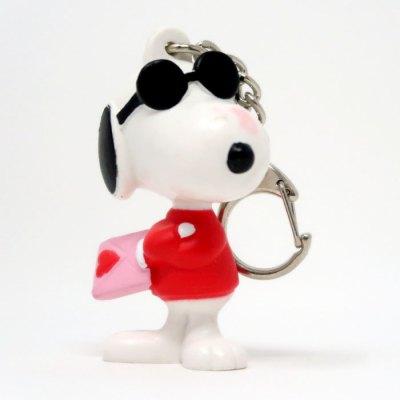 Snoopy Joe Cool Holding Envelope Valentine's Day PVC Keychain