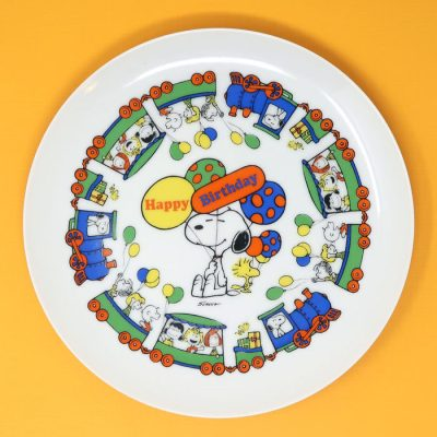Peanuts Birthday Plate
