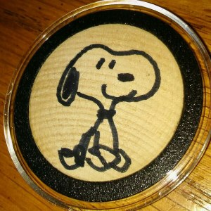 Autographed Snoopy Wooden Nickel