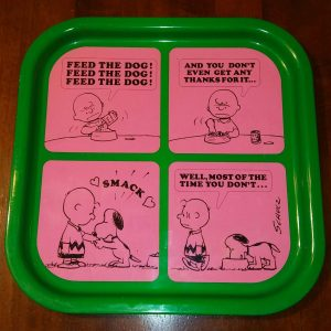 Charlie Brown & Snoopy Metal Tray