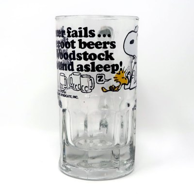 Snoopy and Woodstock Root Beer Glass Mug - Middle