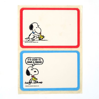 Snoopy and Woodstock Name Tags