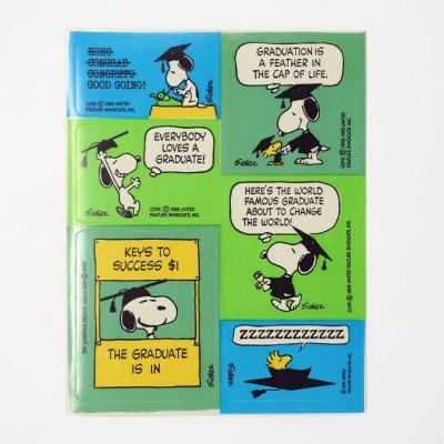 Snoopy & Woodstock Graduation Stickers