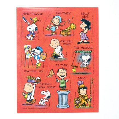 Peanuts Retro Reward Stickers