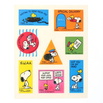 Snoopy & Woodstock Special Delivery Stickers