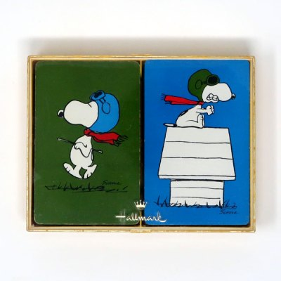 Snoopy Flying Ace Pilot Double Deck Playing Cards