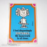 Frieda Peanuts Cartoon Card