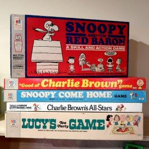 Vintage Peanuts Board Games