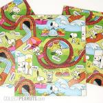 Snoopy and Woodstock Theme park Gift Wrap