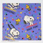 Snoopy and Woodstock confetti wrapping paper sheet