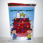 Snoopy Doghouse Gel Window Cling Christmas Countdown Calendar