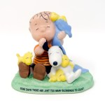 Linus, Snoopy and Woodstocks Figurine