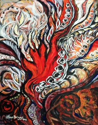 Flames and Wings continued; 2016.