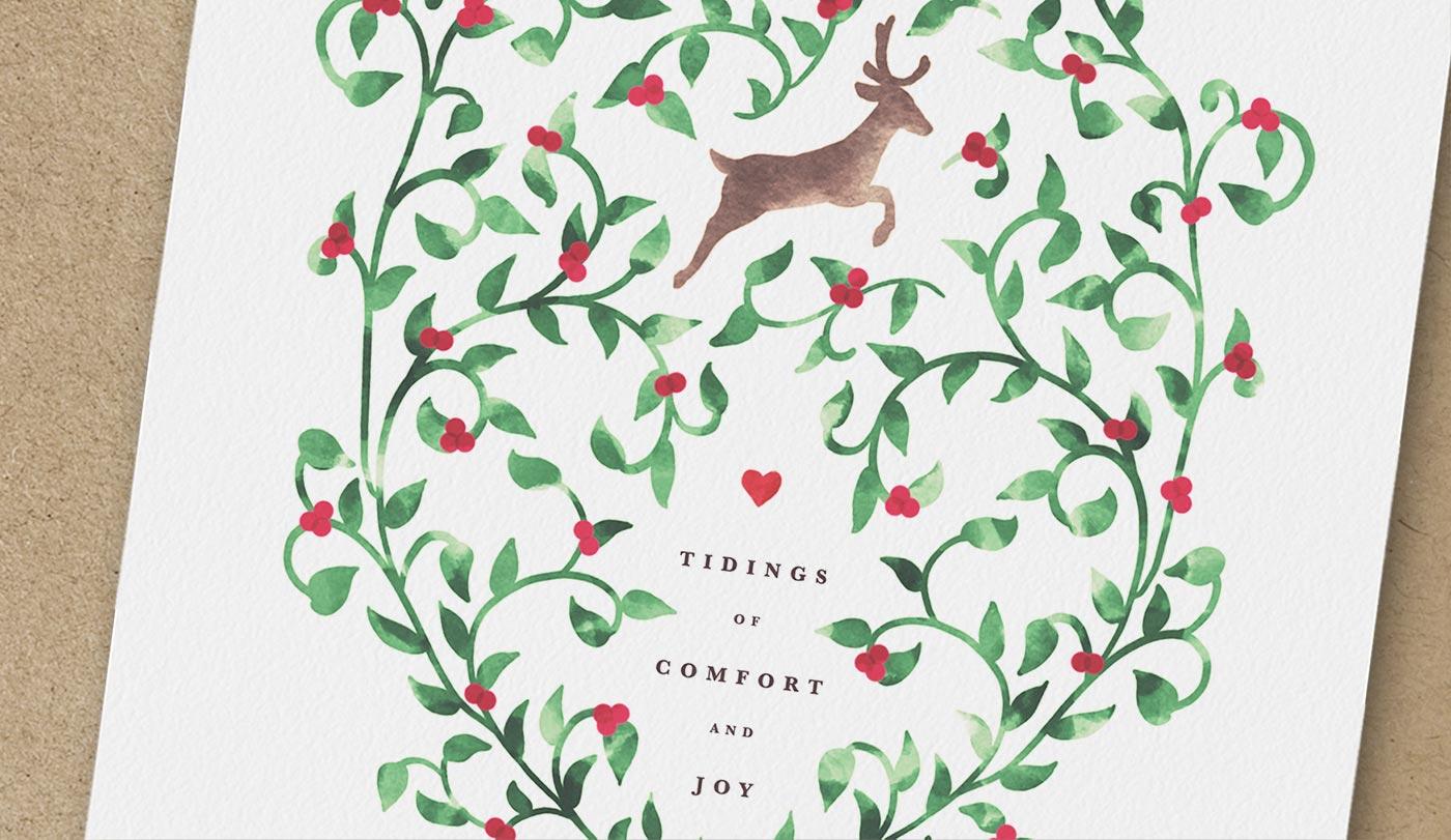 Free Christmas Printable Tidings Of Comfort Amp Joy Christmas Card