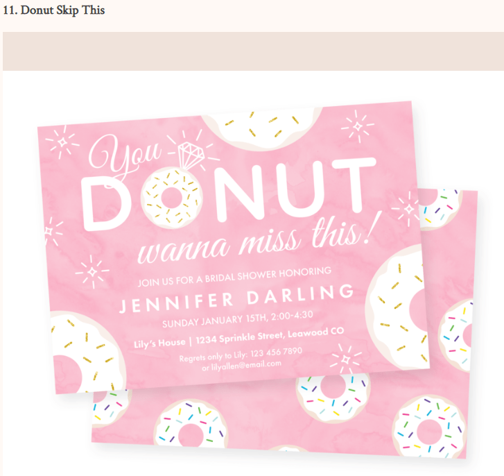 donut skip this brides magazine feature