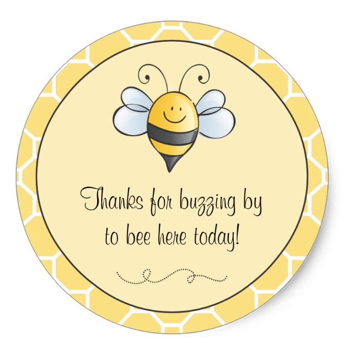 bee theme stickers