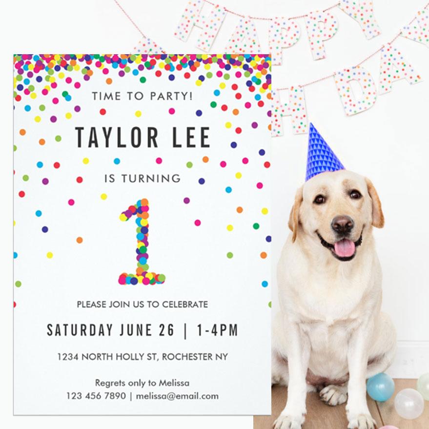 Ideas for a fun rainbow confetti sprinkle party!