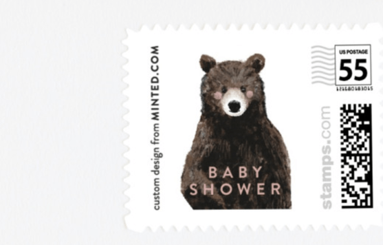 Baby Bear postage stamps