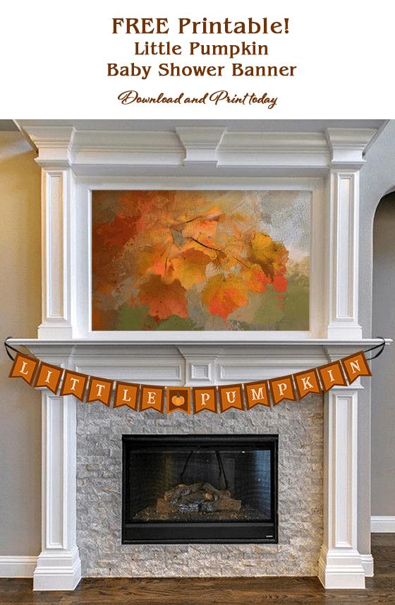 free littile pumpkin banner