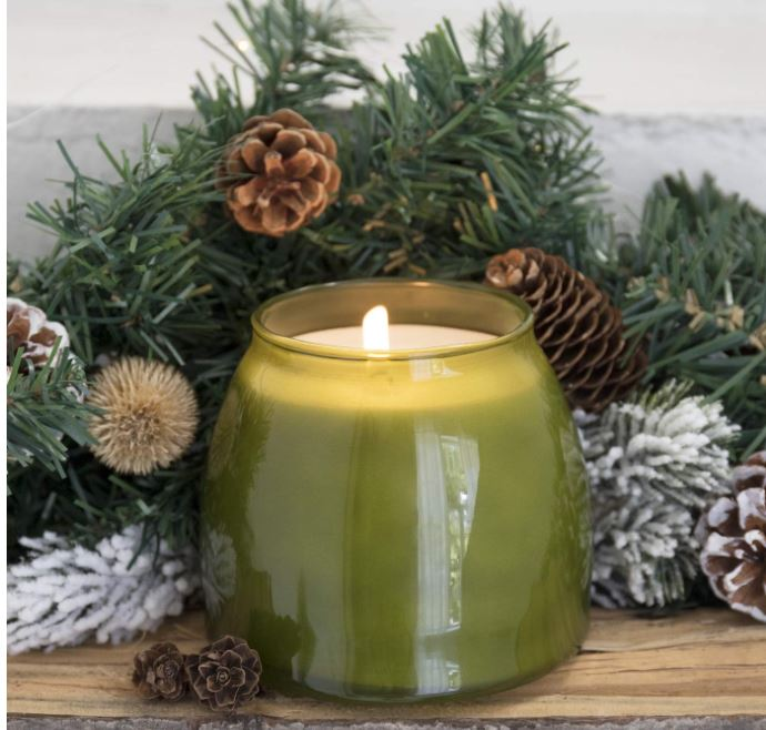 pine scented candle for forest theme baby shower