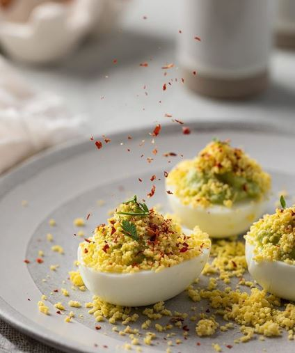 deviled eggs for bubbly brunch