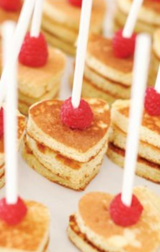 heart shaped mini pancakes