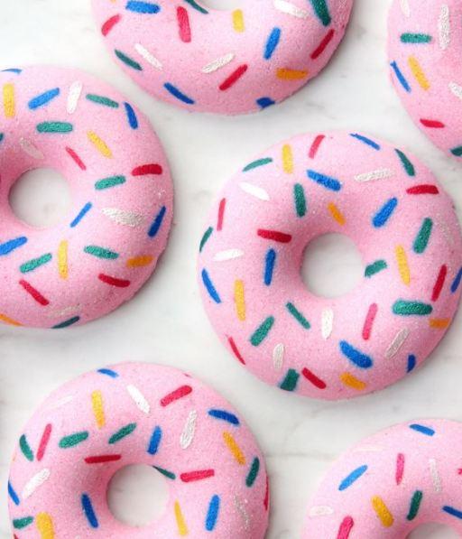 home made donut bath bombs