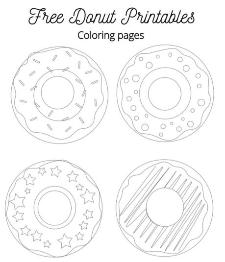free donut printable coloring page