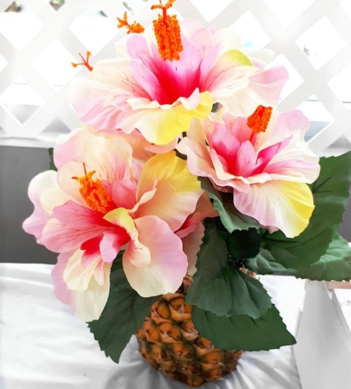 tropical flowers in pineapple