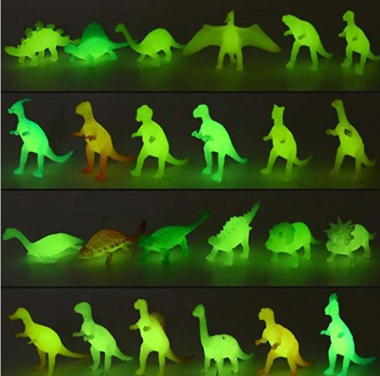 glow in the dark dinosaur party favors