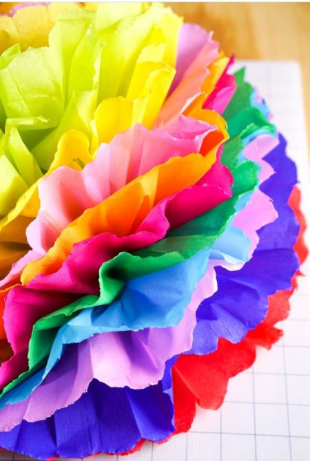 Mexican | fiesta paper flowers