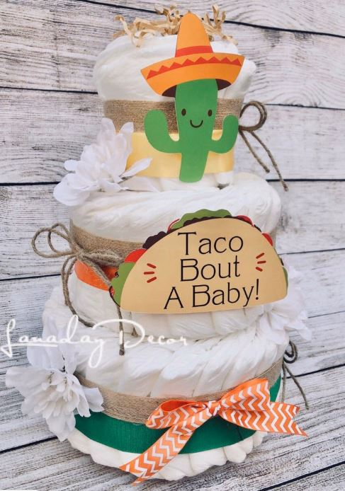 taco baby shower cake
