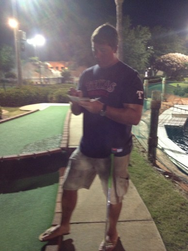 Way too serious about mini golf.