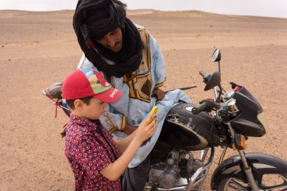 Culture clash in the Moroccan Sahara, October 2015.