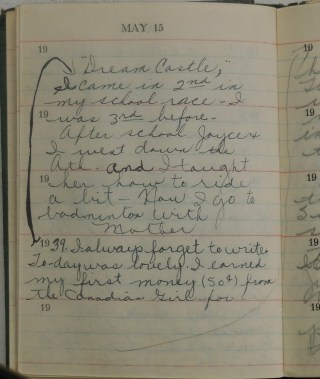 Colleen's Diary May 15, 1939