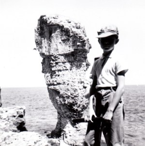 John Andrew Reaney (age 8), Flower Pot Island (Tobermoray, Ontario, August 1962)