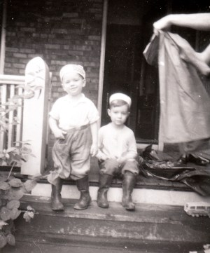 Colleen's children John and James (Winnipeg 1959)
