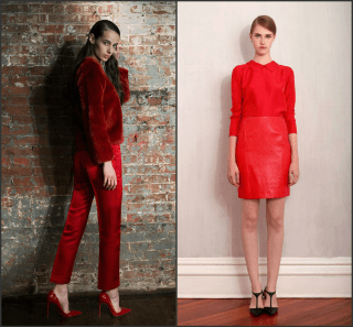 monochrome red new york fashion week fall 2015 trends