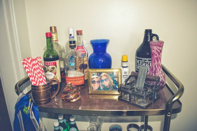 cute bar cart styling