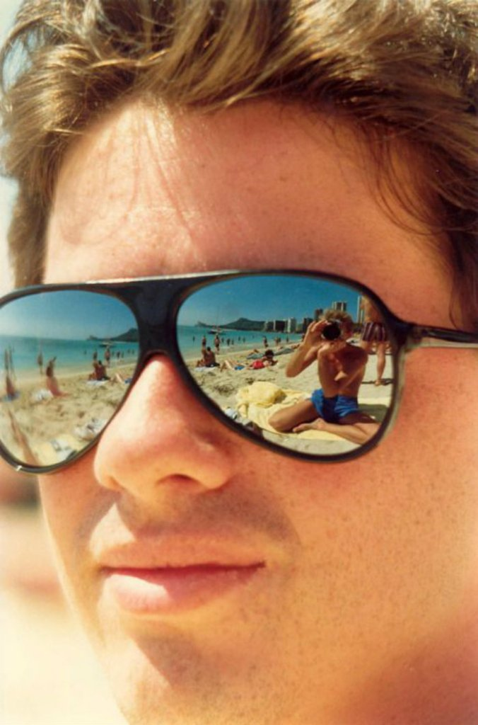 mirrored aviators beach dude 80s retro vintage