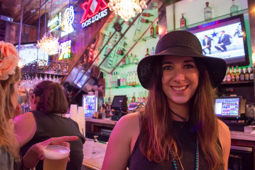 New Orleans Bachelorette Party Girl with Hat
