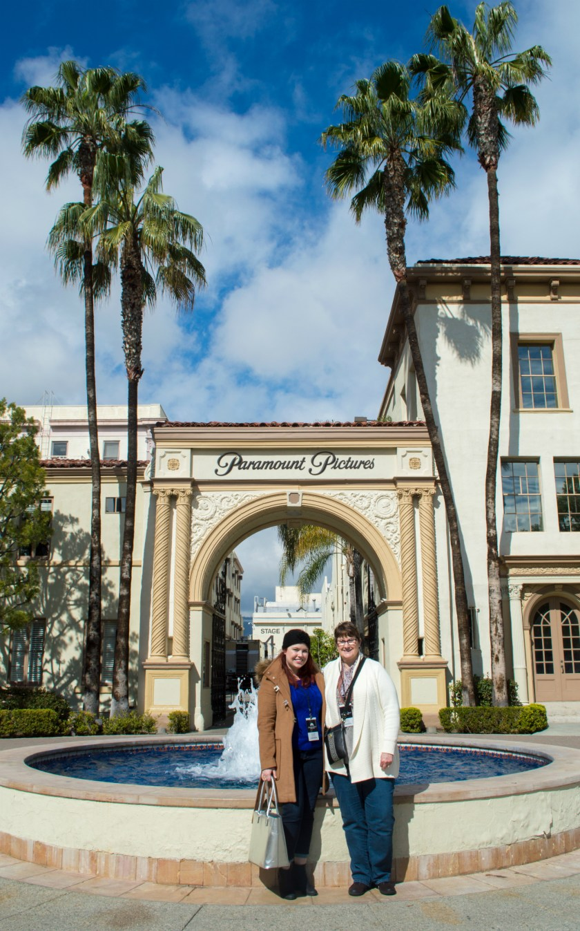 My mom and I outside of the old gate of Paramount Studios.